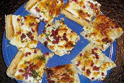 Blätterteig - Flammkuchen mit Käse 3