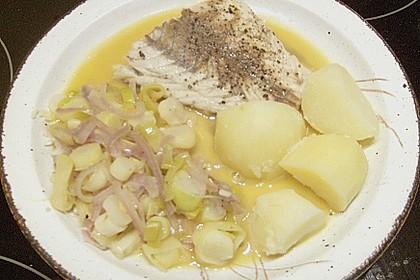 Lachs im Lauchbett mit beurre blanc 2