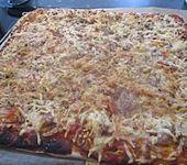 Leckeres Pizza - Blech (Bild)