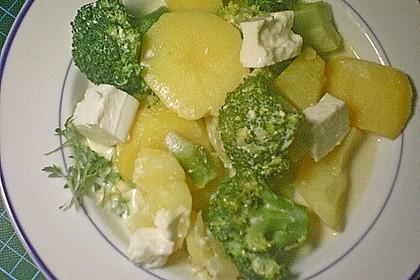 Brokkoli - Feta - Pfanne