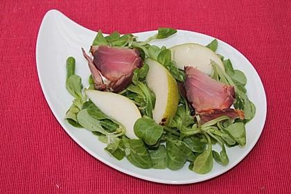 Käse - Saltimbocca auf Rucola und Birnen mit Walnussdressing 7