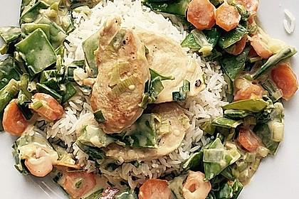 Gemüsepfanne mit Hähnchenbrustfilet 4