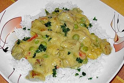 Curry - Reispfanne mit Erbsen und Möhren 3
