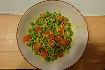 Curry - Reispfanne mit Erbsen und Möhren 2