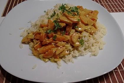 Curry - Reispfanne mit Erbsen und Möhren 1