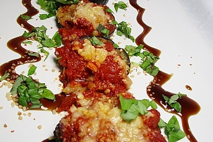Auberginen mit Tomatensugo und Parmesan überbacken 40