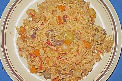 Farbenfrohe Reispfanne 2