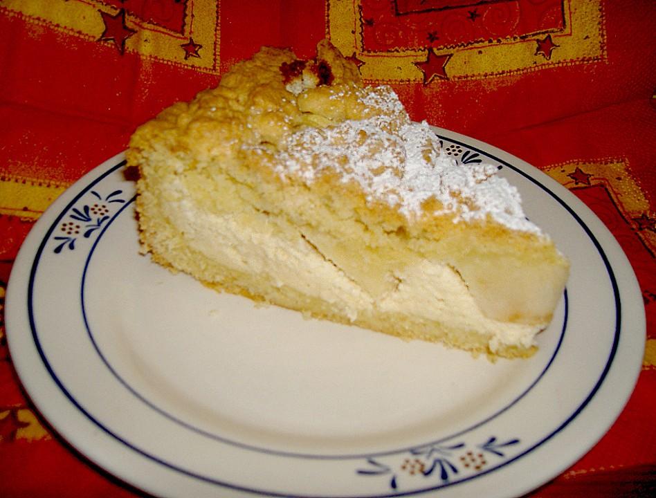Marzipan Quark Torte Mit Apfeln Und Streuseln Von Boo101