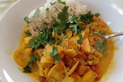 Indisches Fisch-Kokos-Curry (Bild)