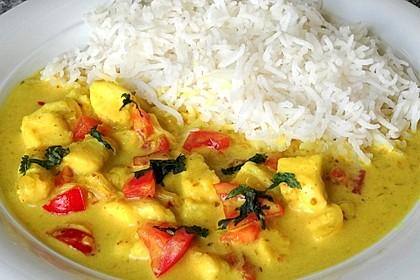Indisches Fisch - Kokos - Curry