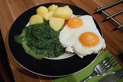 Spinat, Spiegelei und Salzkartoffeln 9
