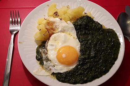 Spinat, Spiegelei und Salzkartoffeln 3