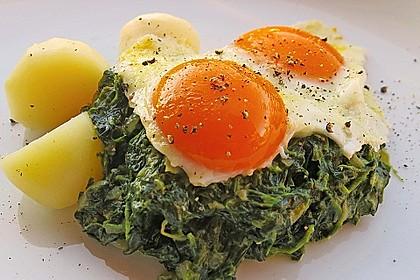 Spinat, Spiegelei und Salzkartoffeln 1