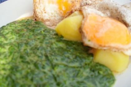 Spinat, Spiegelei und Salzkartoffeln 45