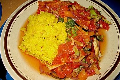 Italienischer Tomatentopf zu Reis 1