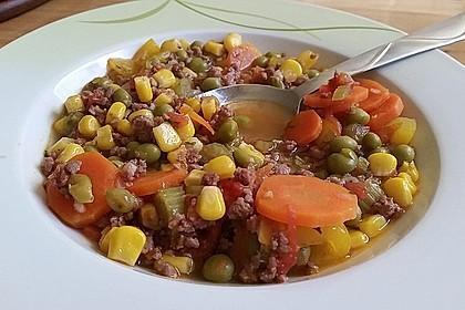 Bunter Hackfleisch-Gemüse-Eintopf (Bild)