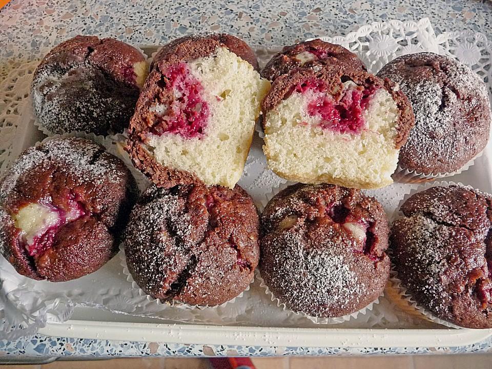 Muffin rezept himbeer schoko