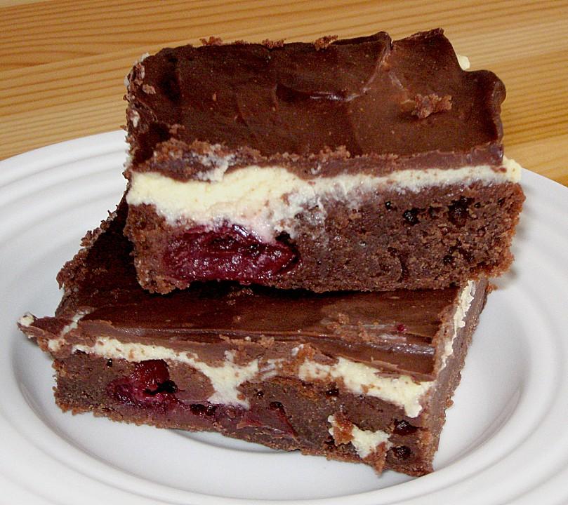 Schokoladenkuchen Mit Kirschen Und Pudding Von Annett Dm Chefkoch De