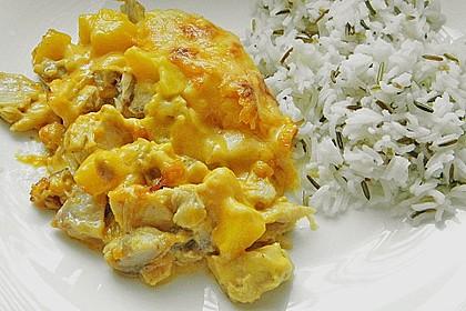 Pfirsich - Sahnehähnchen 1