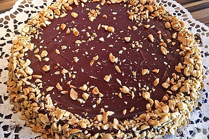 All american Chocolate and Peanut Butter Cheesecake 6