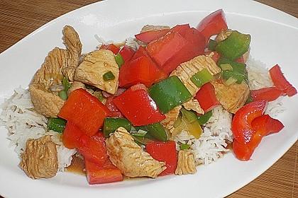 Hähnchen - Nudel - Pfanne mit Paprika 5
