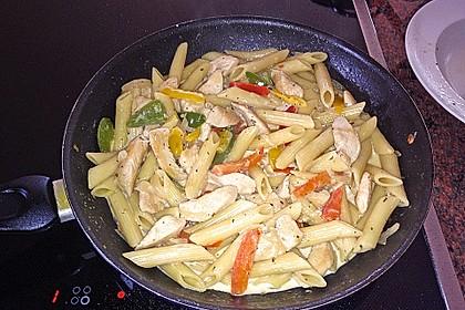 Hähnchen - Nudel - Pfanne mit Paprika 6