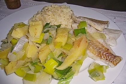 Fisch mit Quitten - Lauch - Gemüse