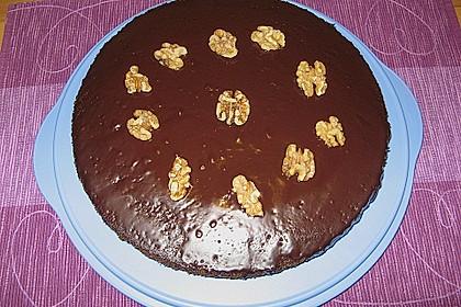 Walnuss - Schokoladen - Kuchen 1