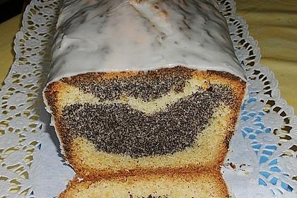 Orangen - Mohn - Marmorkuchen 2