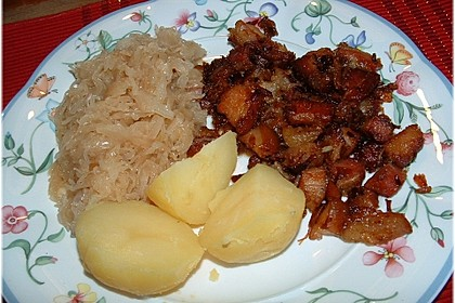 Schlesisches Zwiebel - Bauchfleisch 2