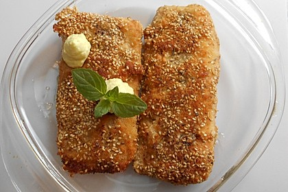 Sesam - Seelachsfilet (Bild)