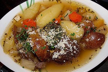 Siedfleisch mit Birnen und Kürbiskernpesto