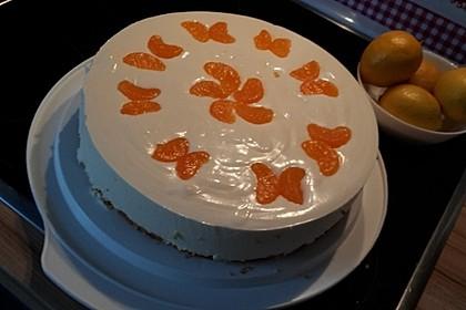 Käsesahne-Torte mit Mandarinen 4