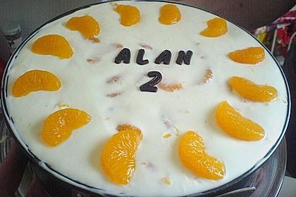 Käsesahne-Torte mit Mandarinen 9