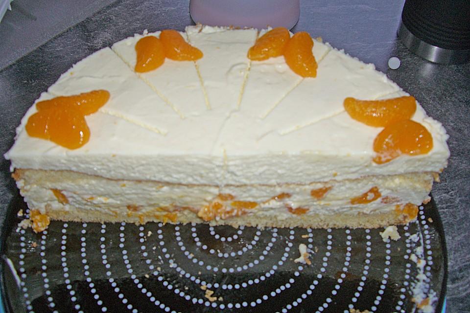 Kasesahne Torte Mit Mandarinen Von Flowerbomb Chefkoch De