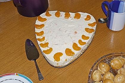 Käsesahne-Torte mit Mandarinen 6