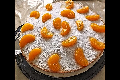 Käsesahne-Torte mit Mandarinen 2