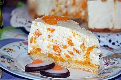 Käsesahne-Torte mit Mandarinen