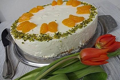 Käsesahne-Torte mit Mandarinen 1