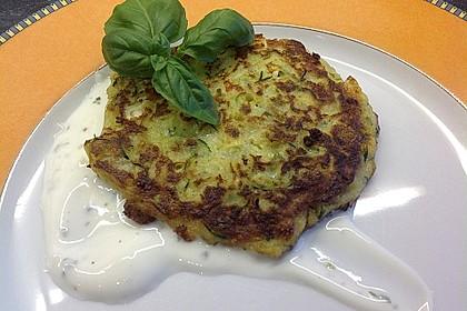 Zucchini - Küchlein mit Joghurtdip 1