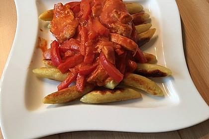 Schupfnudeln mit Paprika - Hähnchensoße 14