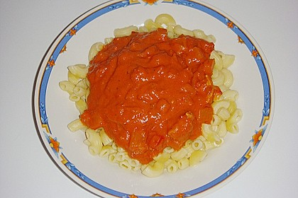 Schupfnudeln mit Paprika - Hähnchensoße 29