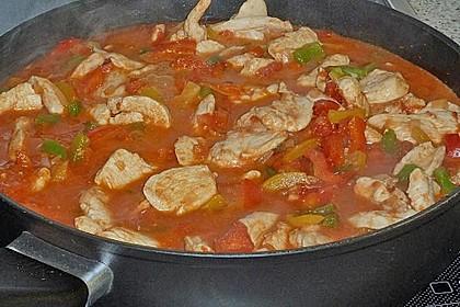 Schupfnudeln mit Paprika - Hähnchensoße 19