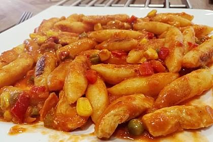 Schupfnudeln mit Paprika - Hähnchensoße 28