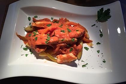 Schupfnudeln mit Paprika - Hähnchensoße 15
