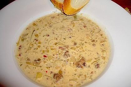 Hackfleisch-Lauch-Suppe 26