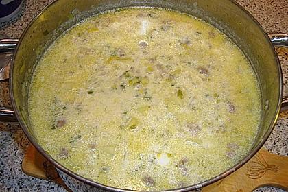 Hackfleisch-Lauch-Suppe 60
