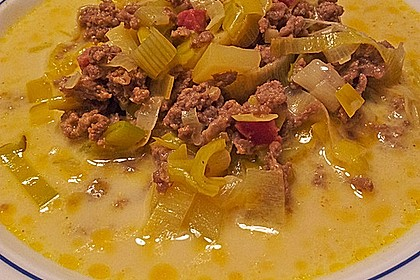 Hackfleisch-Lauch-Suppe 19