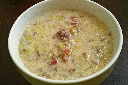 Hackfleisch-Lauch-Suppe 27
