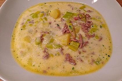 Hackfleisch-Lauch-Suppe 8